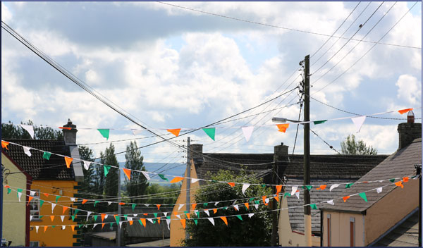 The village flags.