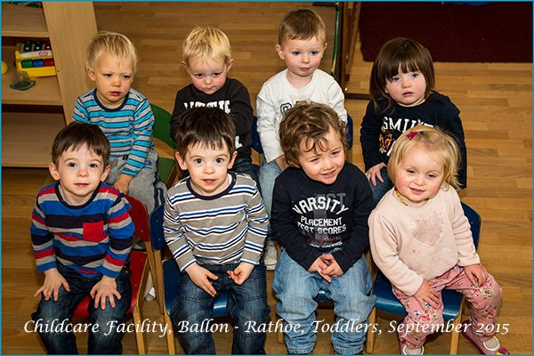 Toddlers seated