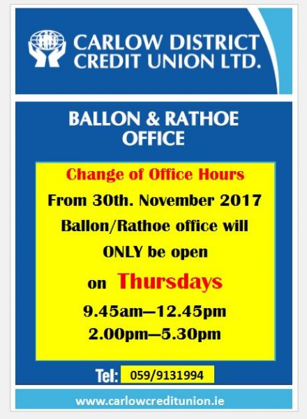 Ballon office hours changes