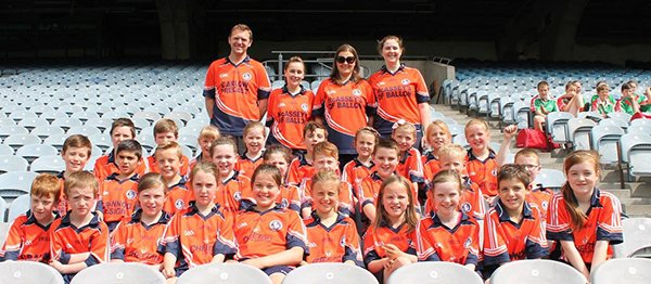 under 12 boys and girls in Croke Park