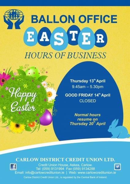 Easter Poster BALLON A1 reduced