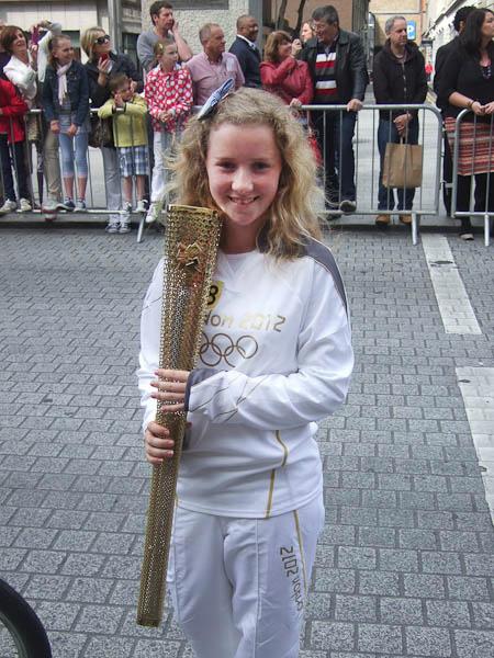 Áine & the Olympic Torch