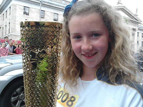 Áine and the Olympic Torch
