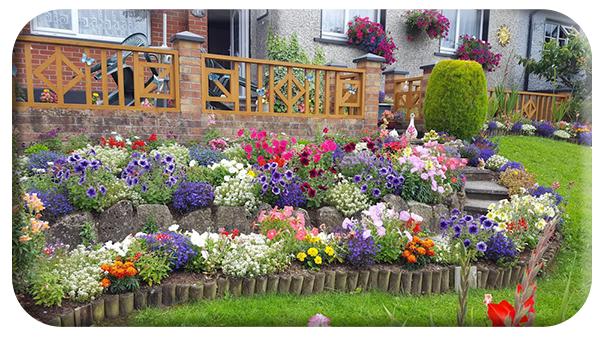 Kathleen and Sinead Abbey's garden