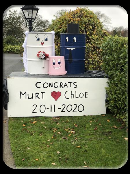 A wedding welcome