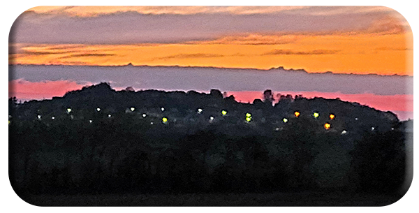 Ballon Hill at night